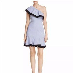 Lucy Paris one shoulder striped dress
